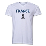 France 2014 FIFA World Cup Brazil(TM) Men's Core V-Neck Core T-Shirt (White)