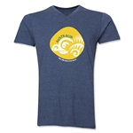 Australia 2014 FIFA World Cup Brazil(TM) Men's Icon V-Neck T-Shirt (Heather Navy)