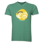 Brazil 2014 FIFA World Cup Brazil(TM) Men's Icon V-Neck Icon T-Shirt (Heather Green)