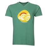 Cameroon 2014 FIFA World Cup Brazil(TM) Men's Icon V-Neck T-Shirt (Heather Green)