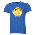 Colombia 2014 FIFA World Cup Brazil(TM) Men's Icon V-Neck T-Shirt (Heather Royal)