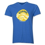 Ecuador 2014 FIFA World Cup Brazil(TM) Men's Icon V-Neck Icon T-Shirt (Heather Royal)