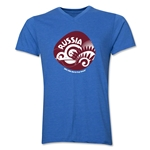 Russia 2014 FIFA World Cup Brazil(TM) Men's Icon V-Neck Icon T-Shirt (Heather Royal)