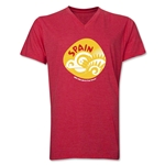 Spain 2014 FIFA World Cup Brazil(TM) Men's Icon V-Neck T-Shirt (Heather Red)