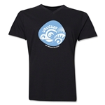Uruguay 2014 FIFA World Cup Brazil(TM) Men's Icon V-Neck Icon T-Shirt (Heather Navy)