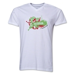 Algeria 2014 FIFA World Cup Brazil(TM) Men's V-Neck Celebration T-Shirt (White)