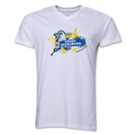 Bosnia-Herzegovina 2014 FIFA World Cup Brazil(TM) Men's V-Neck Celebration T-Shirt (White)