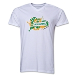 Cote d'Ivoire 2014 FIFA World Cup Brazil(TM) Men's V-Neck Celebration T-Shirt (White)