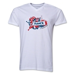 France 2014 FIFA World Cup Brazil(TM) Men's V-Neck Celebration T-Shirt (White)