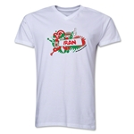 Iran 2014 FIFA World Cup Brazil(TM) Men's V-Neck Celebration T-Shirt (White)