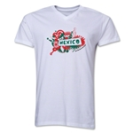 Mexico 2014 FIFA World Cup Brazil(TM) Men's V-Neck Celebration T-Shirt (White)