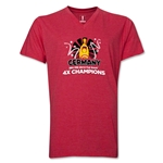Germany 2014 FIFA World Cup Brazil(TM) Men's V-Neck Champions Official Look Trophy T-Shirt (Heather Red)