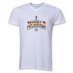 Germany 2014 FIFA World Cup Brazil(TM) Men's V-Neck World Champions T-Shirt (White)