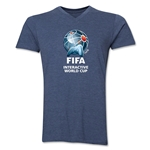 FIFA Interactive World Cup Core Emblem V-neck T-Shirt (Heather Navy)