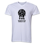 FIFA Interactive World Cup Core Emblem V-Neck T-Shirt (White)