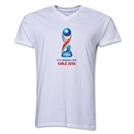 FIFA U-17 World Cup Chile 2015 Core V-Neck T-Shirt (White)