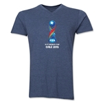 FIFA U-17 World Cup Chile 2015 Core V-Neck T-Shirt (Heather Navy)