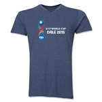 FIFA U-17 World Cup Chile 2015 Landscape V-Neck T-Shirt (Heather Navy)