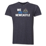 Newcastle United We Are Newcastle V-Neck T-Shirt (Dark Gray)
