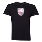 Pink FC Men's V-Neck T-Shirt (Black)
