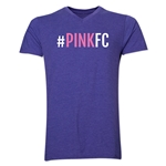 Pink FC Men's V-Neck T-Shirt (Heather Purple)