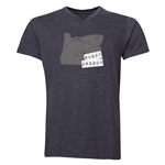 Rugby Oregon V-Neck T-Shirt (Dark Gray)