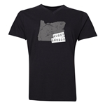 Rugby Oregon V-Neck T-Shirt (Black)