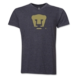 Pumas UNAM V-Neck T-Shirt (Dark Gray)