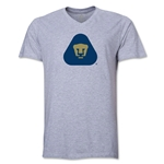Pumas UNAM V-Neck T-Shirt (Gray)