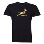 South Africa Springboks Men's V-Neck T-Shirt (Black)