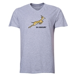 South Africa Springboks Men's V-Neck T-Shirt (Gray)