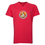 FC Santa Claus Core Men's V-Neck T-Shirt (Heather Red)