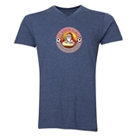 FC Santa Claus Core Men's V-Neck T-Shirt (Heather Navy)