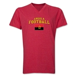 Angola Football V-Neck T-Shirt (Heather Red)