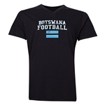 Botswana Football V-Neck T-Shirt (Black)