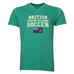 British Virgin Islands Soccer V-Neck T-Shirt (Heather Green)