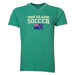 Cook Islands Soccer V-Neck T-Shirt (Heather Green)