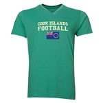 Cook Islands Football V-Neck T-Shirt (Heather Green)