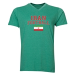 Iran Football V-Neck T-Shirt (Heather Green)