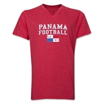 Panama Football V-Neck T-Shirt (Heather Red)