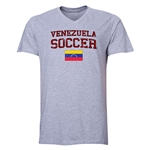 Venezuela Soccer V-Neck T-Shirt (Grey)