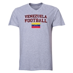 Venezuela Football V-Neck T-Shirt (Grey)