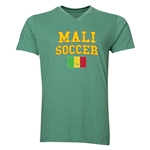 Mali Soccer V-Neck T-Shirt (Heather Green)