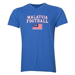 Malaysia Football V-Neck T-Shirt (Heather Royal)