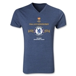 Chelsea 2013 UEL Final V-Neck T-Shirt (Heather Navy)