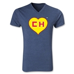 Chapulin V-Neck T-Shirt (Heather Navy)
