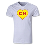 Chapulin V-Neck T-Shirt (White)