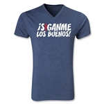 Chapulin Los Buenos V-Neck T-Shirt (Heather Navy)