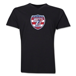USA Sevens Rugby V-Neck T-Shirt (Black)