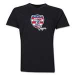 USA Sevens Vegas Rugby V-Neck T-Shirt (Black)